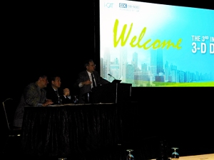 Drs. Jack Krauser, James Mah and Scott Ganz (from left) lead a panel discussion on cone beam imaging technology.